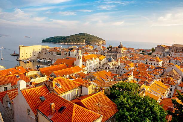 Sonnenuntergang über Dubrovnik-Altstadt – Foto