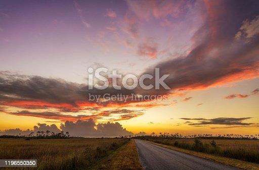 Sunset Clouds, Park Road, Everglades National Park, Florida