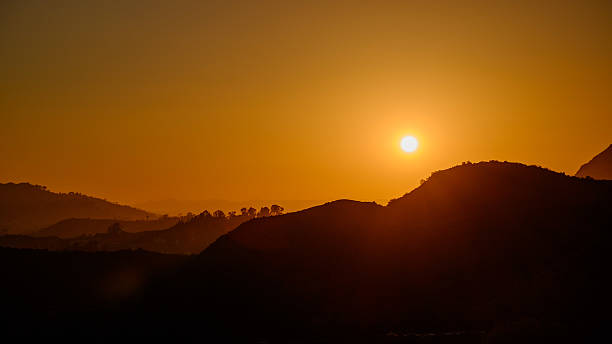 Sunset over Griffith Park stock photo