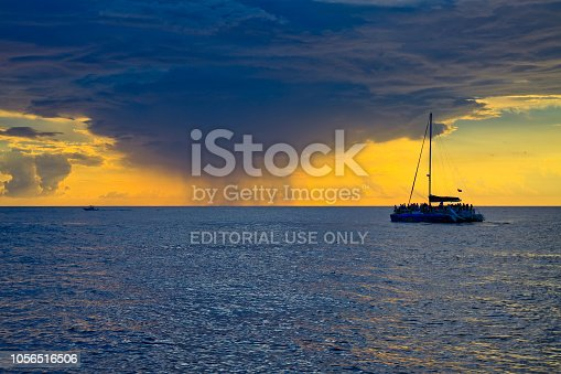 istock Sunset over Gulf of Mexico from Panama City Beach 1056516506