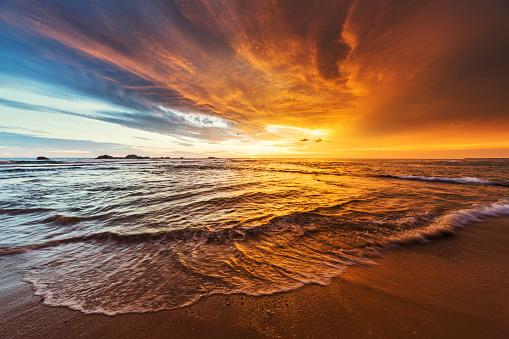 Sunset over Indian ocean. Shot taken in Hikkaduwa, Sri Lanka. Camera: Canon 5d mk III