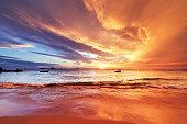 インド洋に沈む夕日