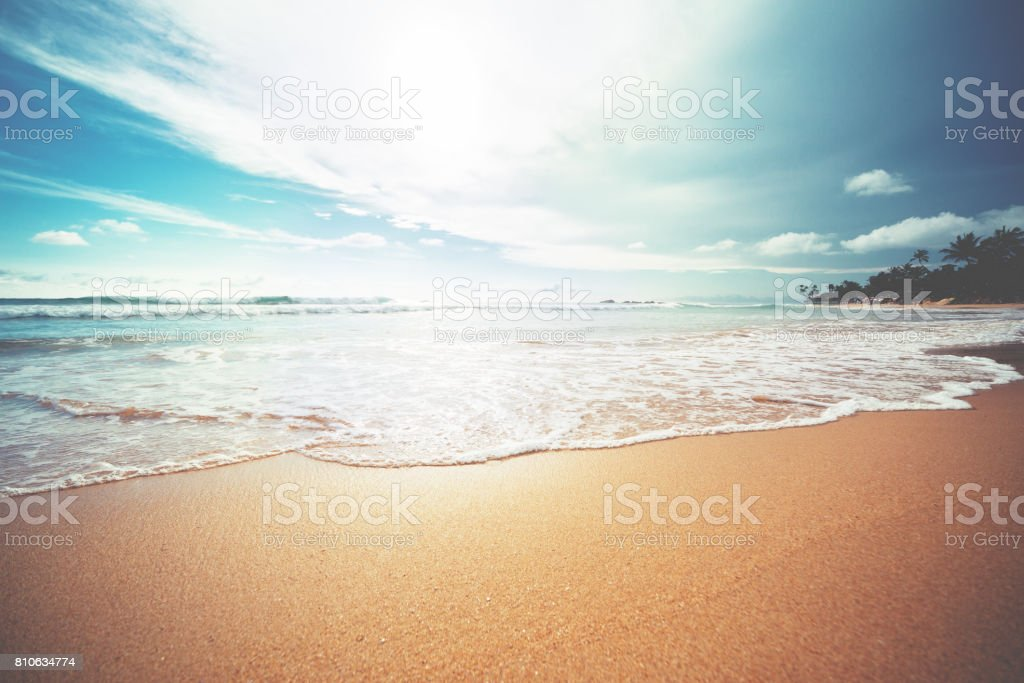 Sunset over Indian ocean - foto stock