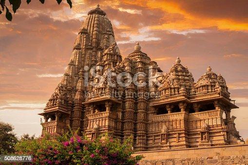 istock Sunset over Kandariya Mahadeva Temple 508628776