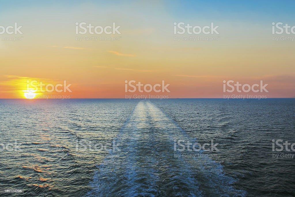 Sunset over Kattegat stock photo
