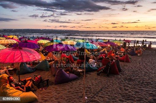 istock Sunset over Kuta beach 628994390