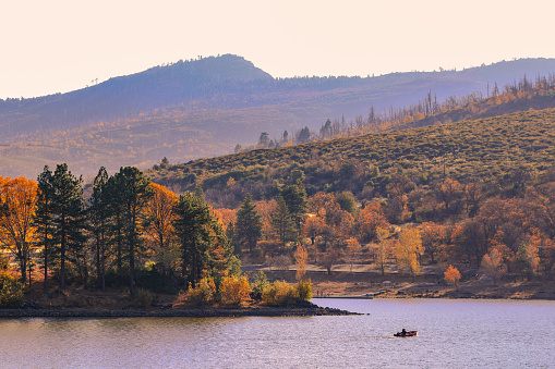 Sunset Over Lake Cuyamaca Stock Photo - Download Image Now