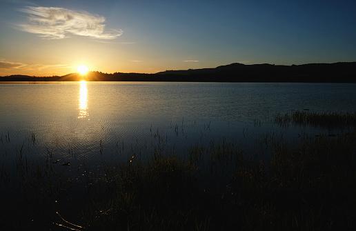 해질녘까지 Lake 0명에 대한 스톡 사진 및 기타 이미지