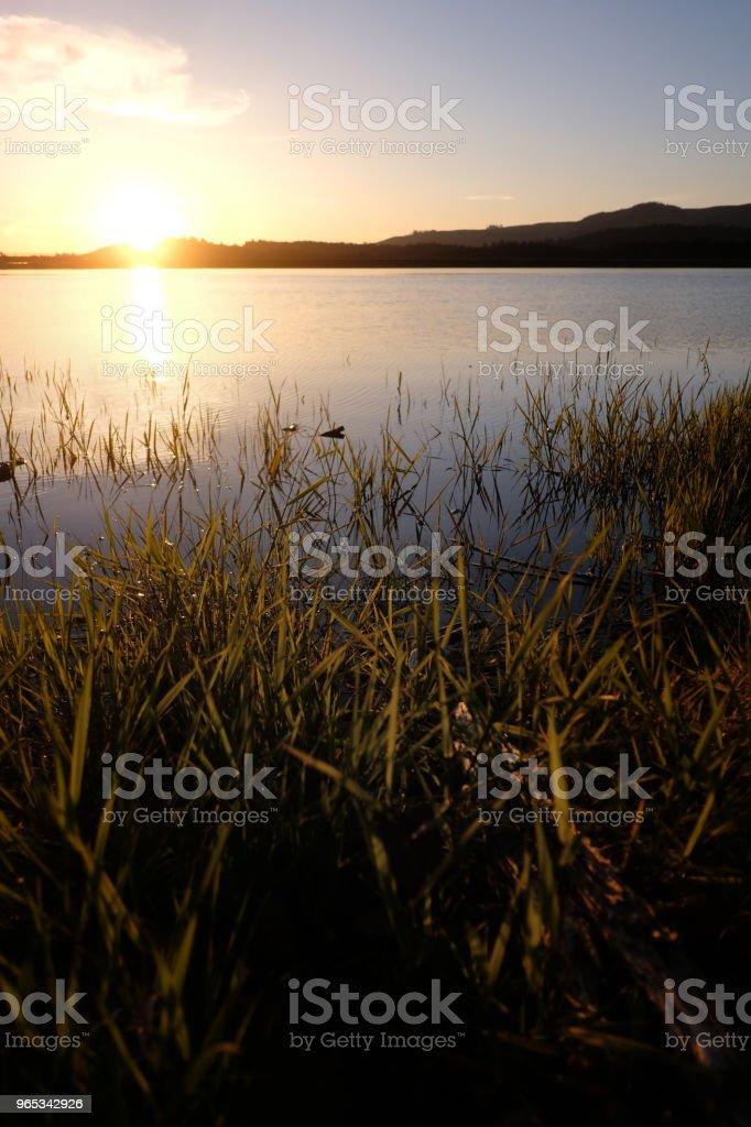 Sunset over Lake zbiór zdjęć royalty-free