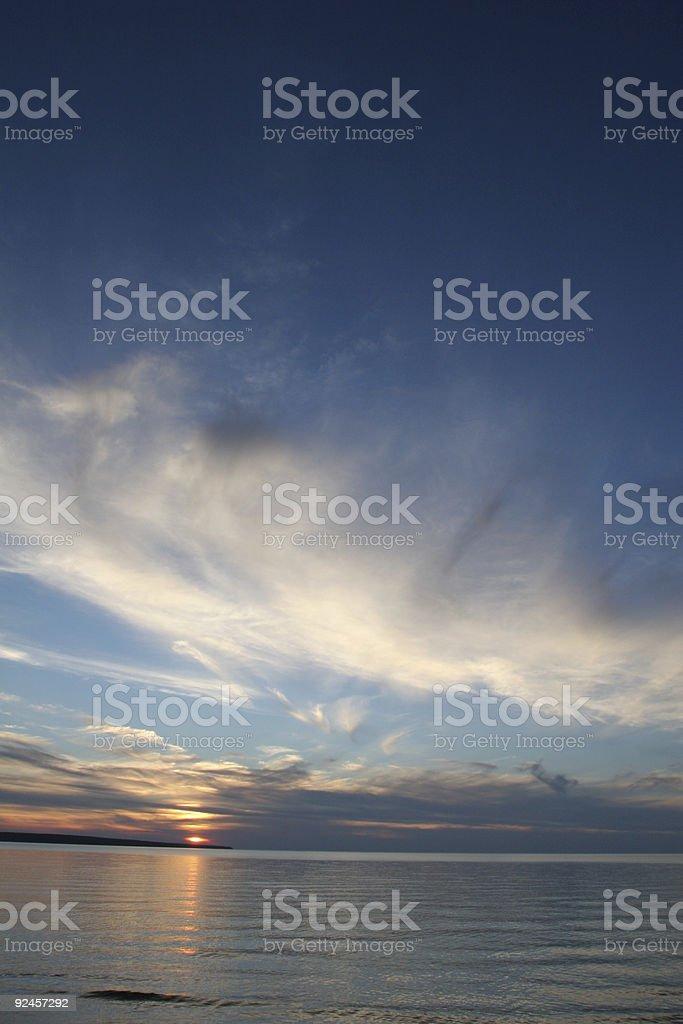 Sunset Over lake Superior royalty-free stock photo