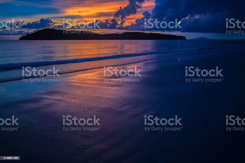 Sunset over Langkawi stock photo