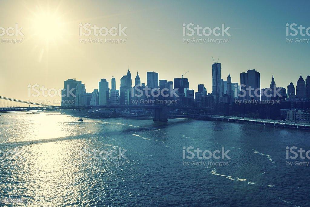 Sunset over Manhattan royalty-free stock photo