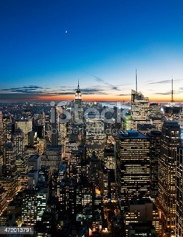 Sunset over Manhattan from Top of the Rock