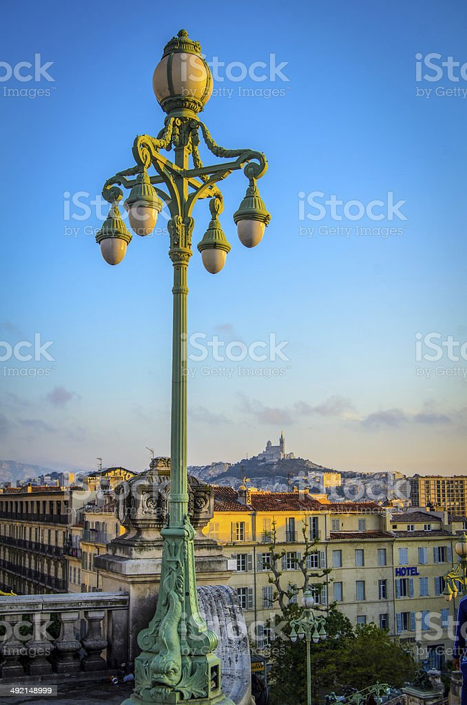 Sunset Over Marseille stock photo