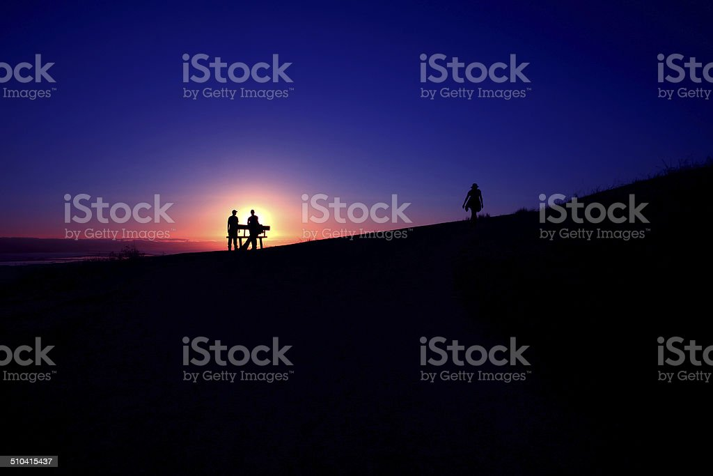 Sunset over Mission Peak stock photo