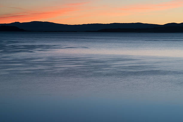 Sunset over Mono Lake stock photo