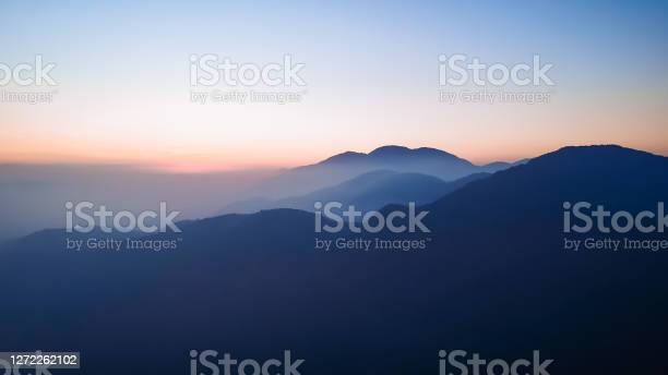 Photo of sunset over mountains