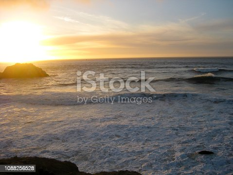 sunset over Ocean beach in Autumn, San Francisco, California, USA