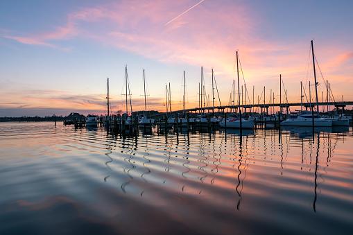 Sunset over Oriental Marina