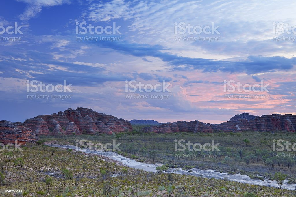 Sunset over Purnululu National Park, Western Australia stock photo