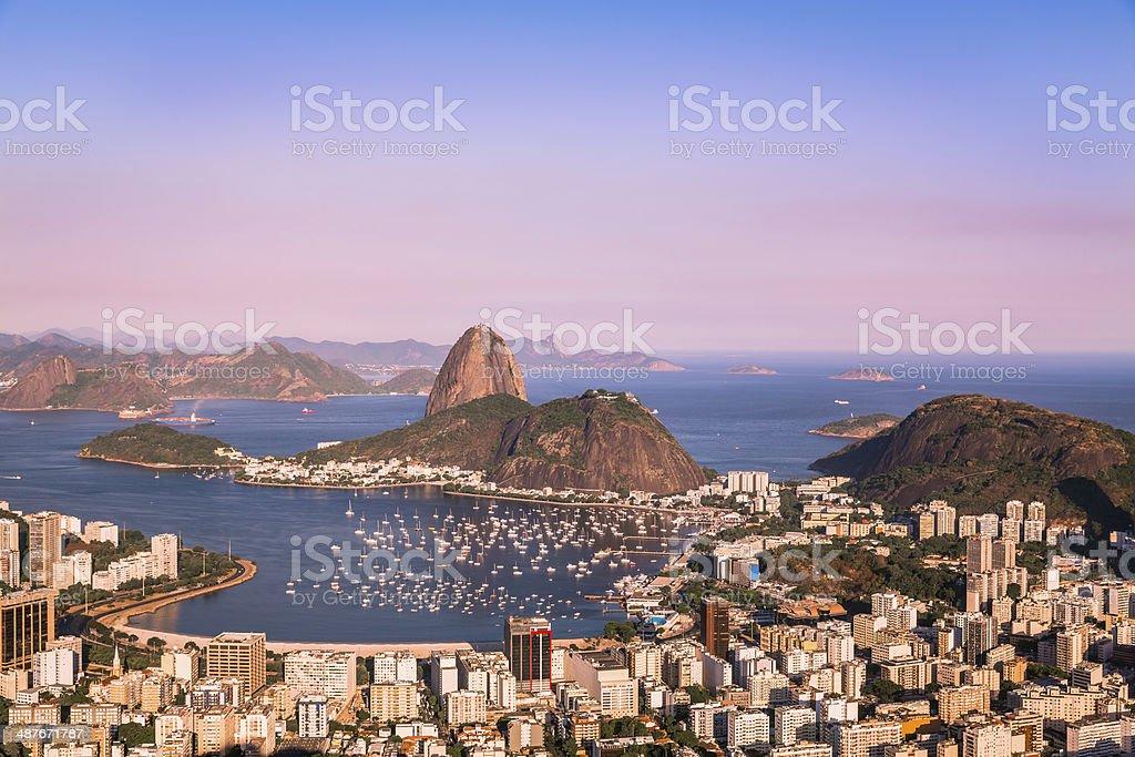 Sunset over Rio de Janeiro stock photo