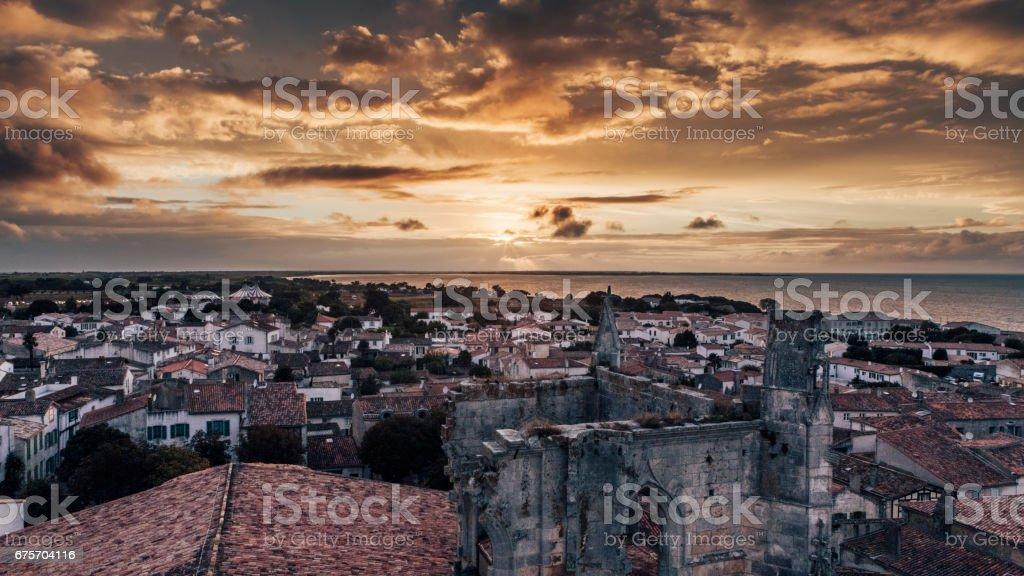 聖馬丁島落日 免版稅 stock photo