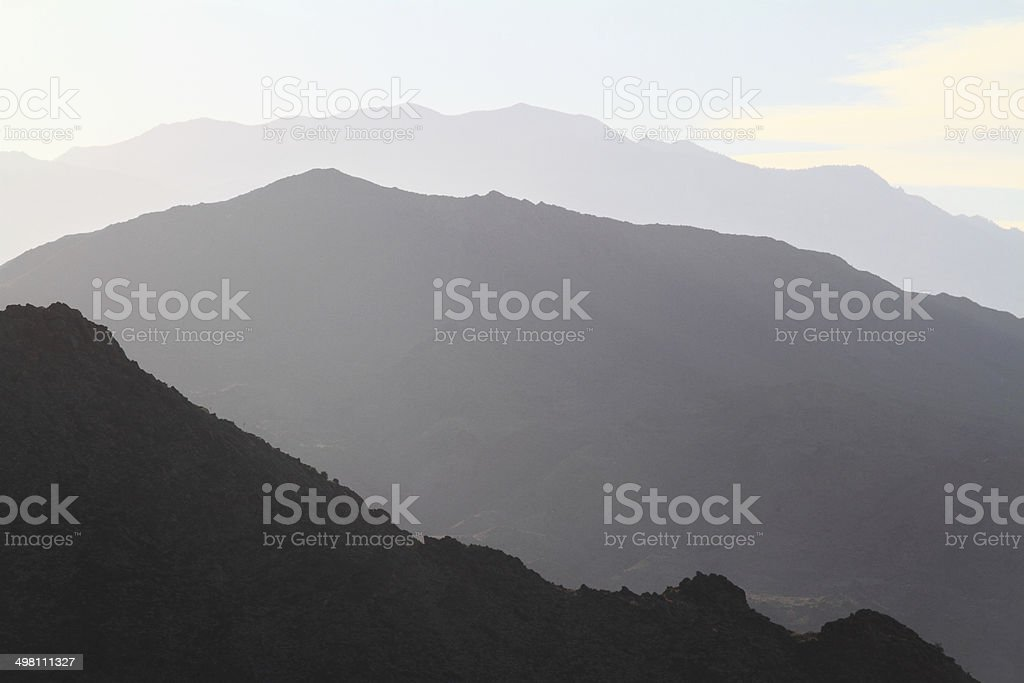 Sunset over San Jacinto Mountains stock photo