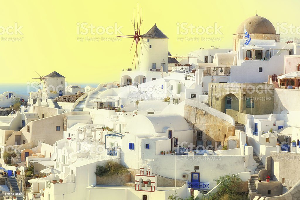 Sunset over Santorini (size XXXL) royalty-free stock photo