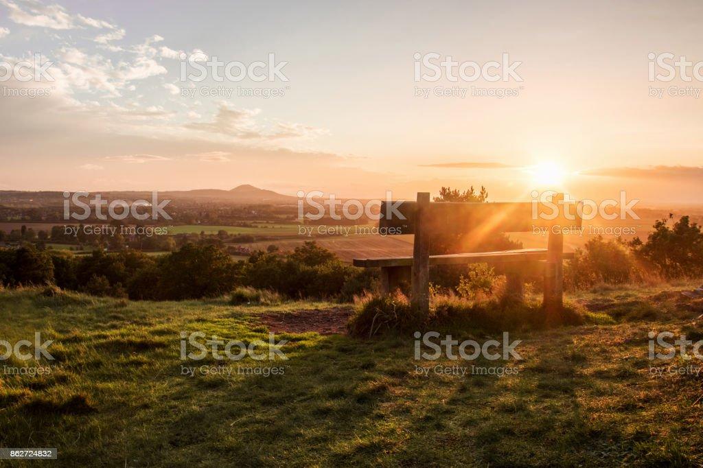 Sunset Over Shropshire stock photo