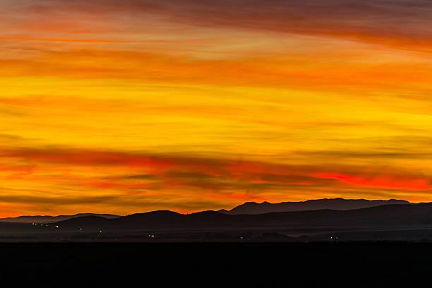 Sunset over SR-73 stock photo
