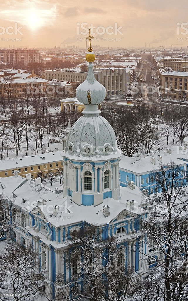 Sunset over St. Petersburg royalty-free stock photo