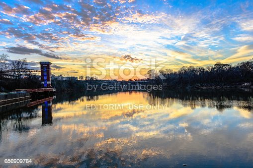 istock Sunset over the Alabama River 656909764