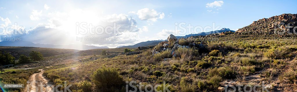 Sunset over the Cederberg stock photo