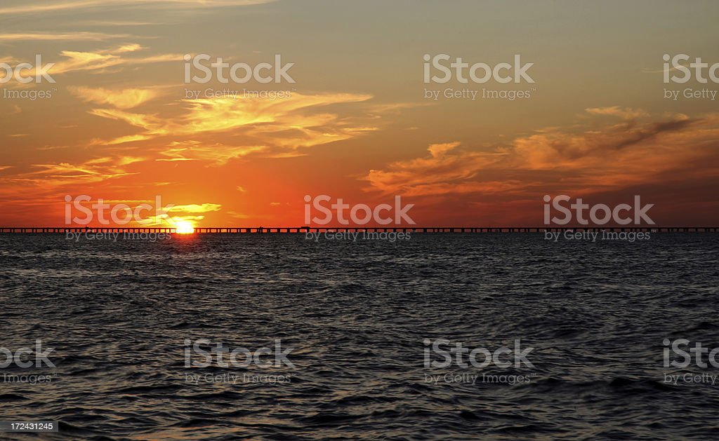 Sunset over the Chesapeake Bay royalty-free stock photo