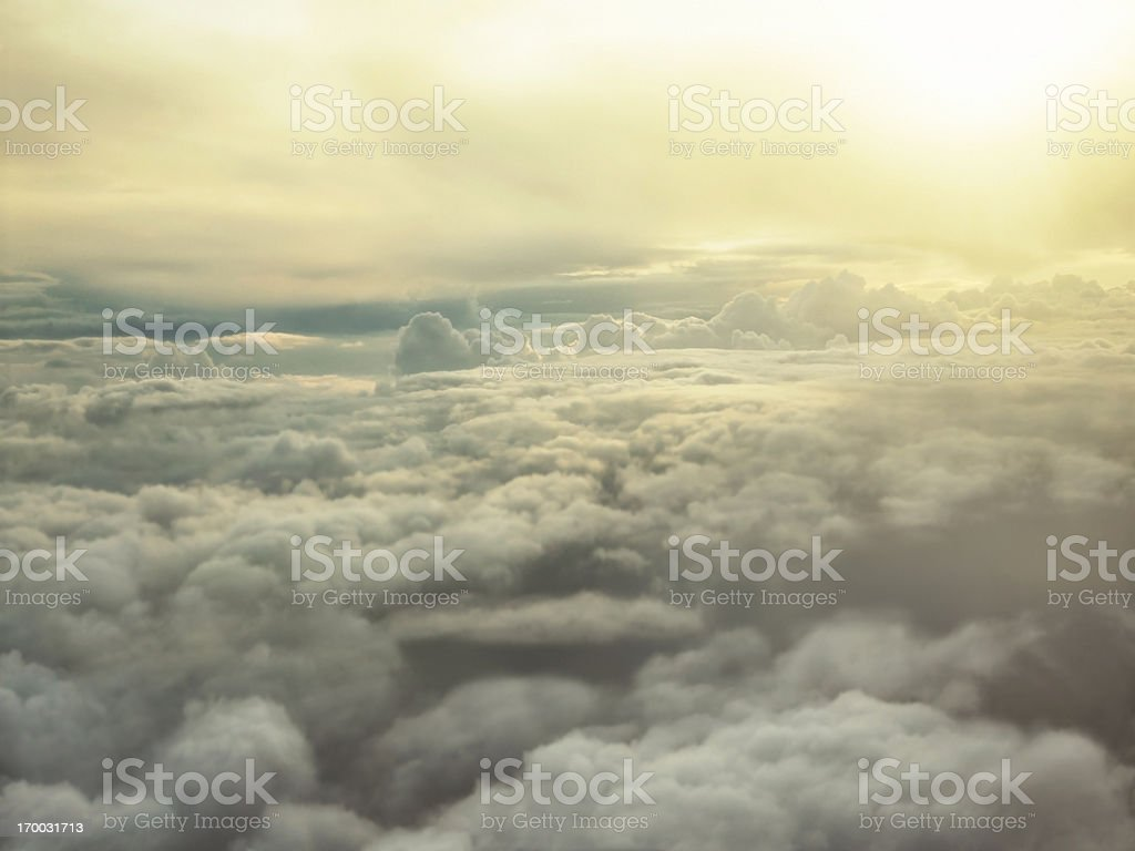Sunset over the clouds royalty-free stock photo