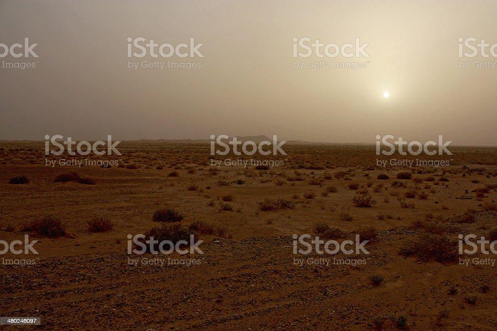 Sunset over the desert royalty-free stock photo