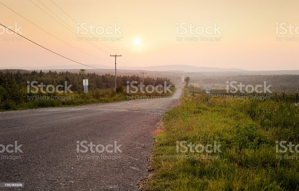 Sunset over the Eastern Townships stock photo