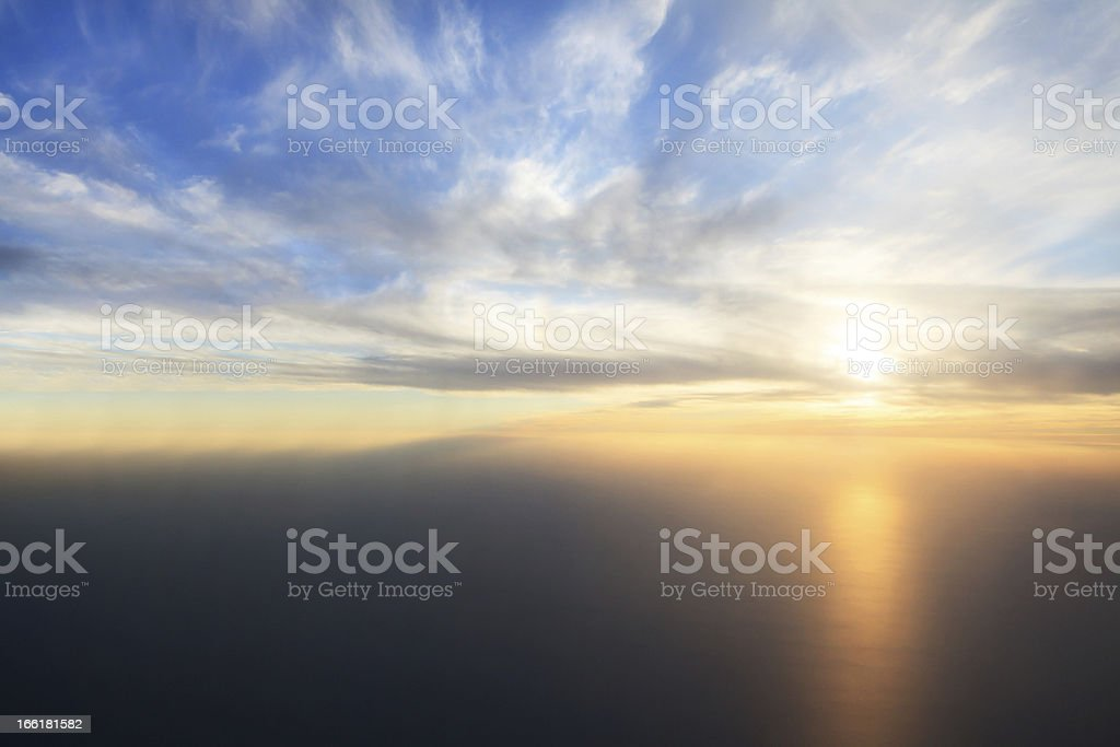 Sunset over the Gulf royalty-free stock photo