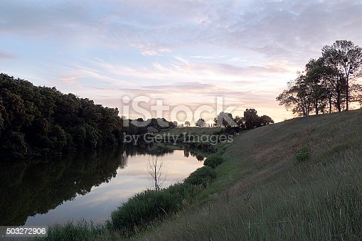 istock Sunset over the lake 503272906