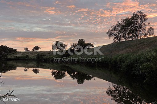 istock Sunset over the lake 503272974