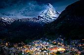 Taken in Zermatt as the last snow melts on the peak of the Matterhorn