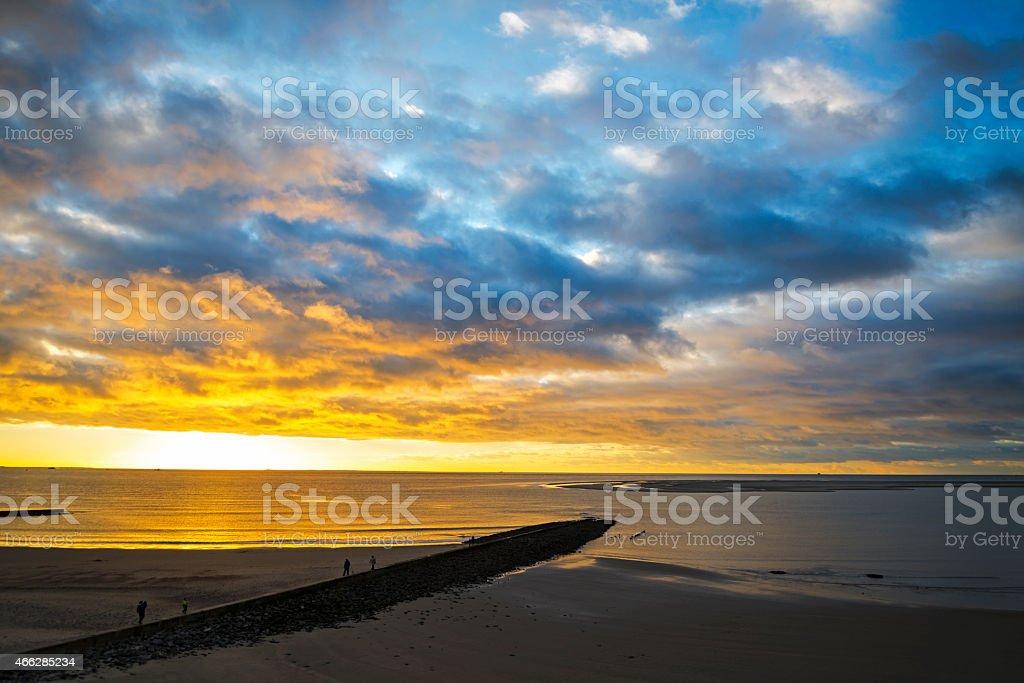 Sonnenuntergang über der Nordsee – Foto