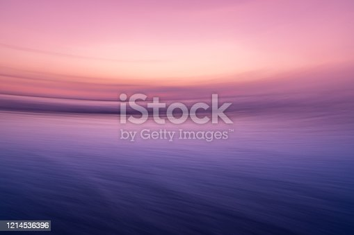 Purple pink Sunset taken with a long exposure.