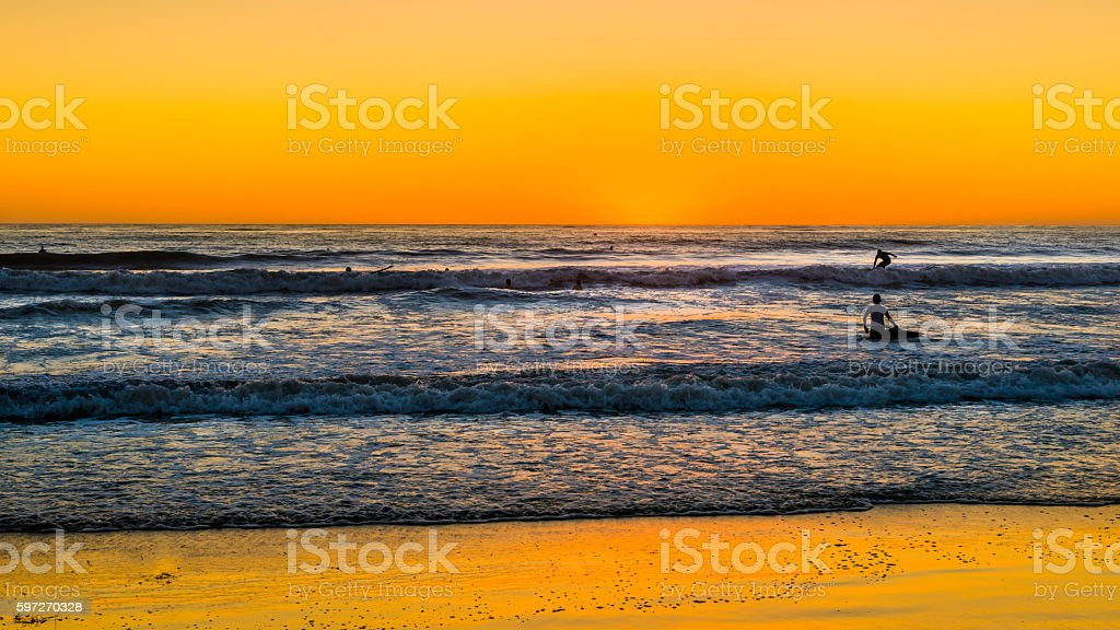 USA. Sunset over the ocean in San Diego. Lizenzfreies stock-foto