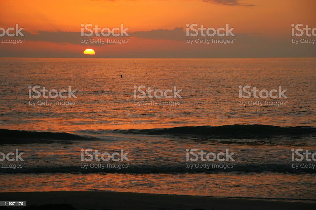Sunset over the Ocean royalty-free stock photo