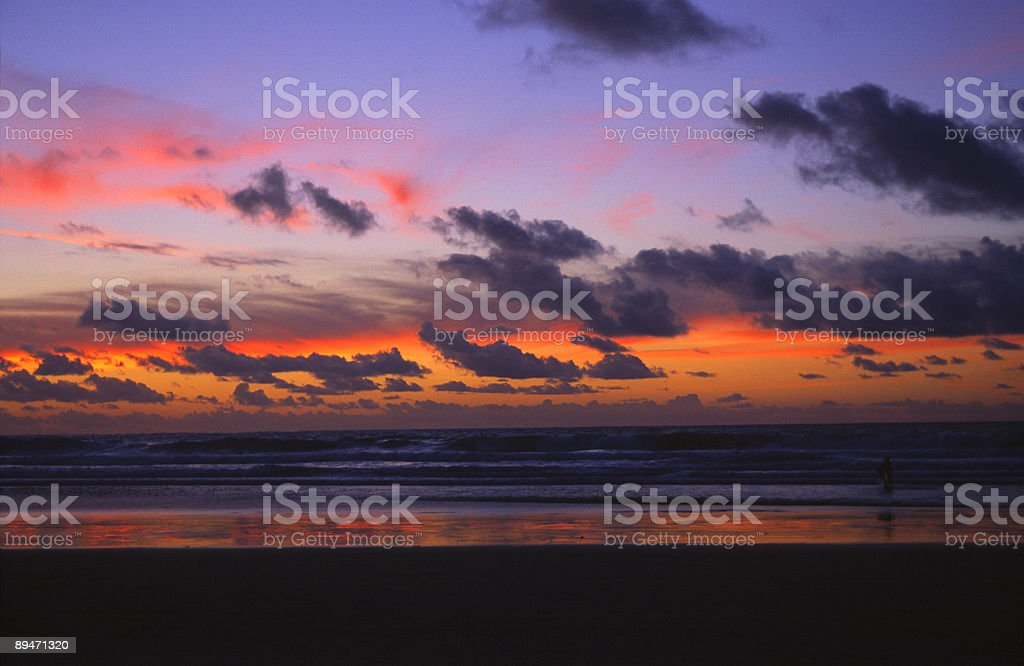 Sunset over the Pacific in San Diego royalty-free stock photo