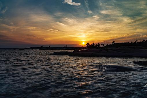 Sonnenuntergang Über Der Philipedwardinsel Stockfoto und mehr Bilder von Abenddämmerung
