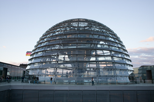 Sunset over the Reichstag Dome