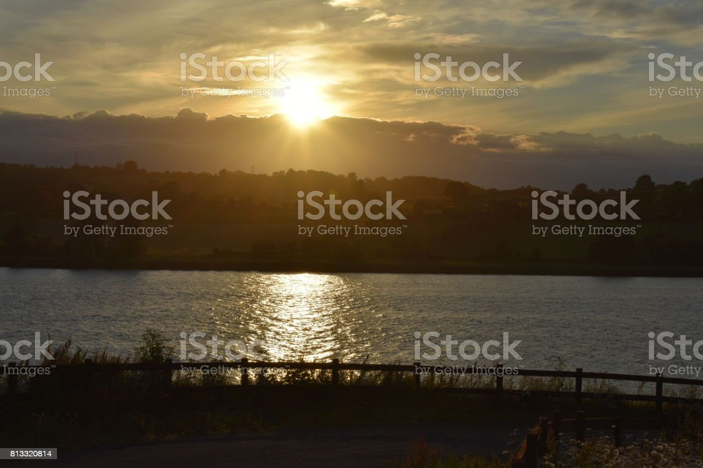 Sunset Over The River Suir stock photo