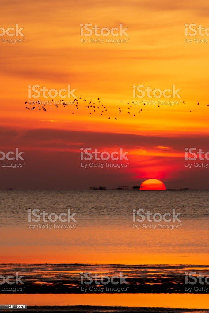 Sonnenuntergang über dem Meer – Foto